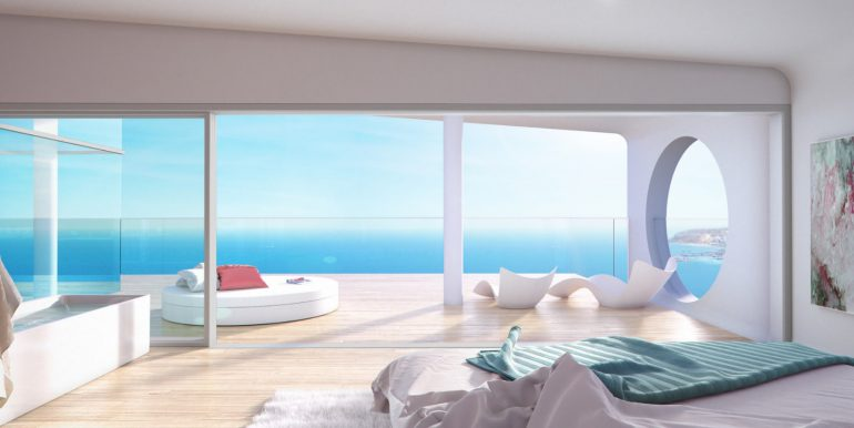 New build luxury properties apartments and penthouses on Costa del Sol, Malaga - PENTHOUSE-BEDROOM-2