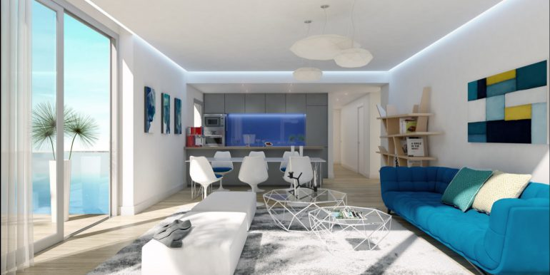 New build luxury properties apartments and penthouses on Costa del Sol, Malaga - APARTMENT-LIVING-1