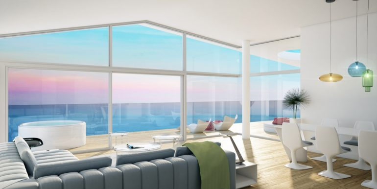 New build luxury properties apartments and penthouses on Costa del Sol, Malaga - PENTHOUSE-LIVING-1